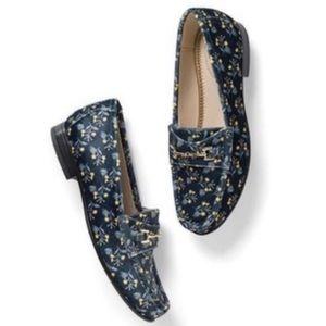 Cabi Carnaby Velvet Floral Loafers #6005 8 NIB